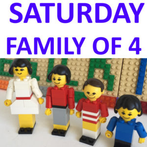Saturday 9th Oct – Family of 4