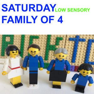 Saturday 9th Oct – LOW SENSORY Family of 4